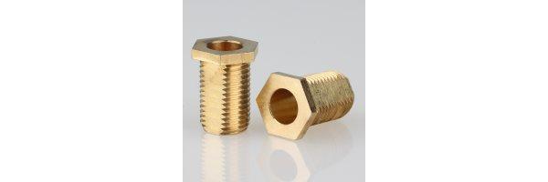 Trompeten-Nippel 6-kant mit V-Schutz