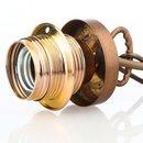 Lampen Abschluß Kaschierung antik fume 57x11mm mit...