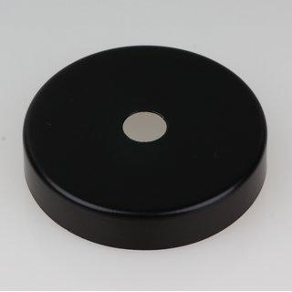 Lampen Abschluß Kaschierung schwarz lackiert 57x11mm mit Mittelloch 10,2mm