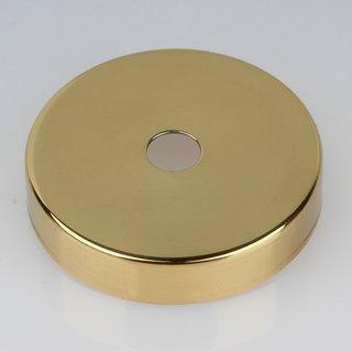 Lampen Abschluß Kaschierung Messing poliert 57x11mm mit Mittelloch 10,2mm