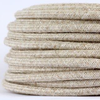 Textilkabel Stoffkabel kiesel 3-adrig 3x0,75 Gummischlauchleitung 3G 0,75 H03VV-F textilummantelt