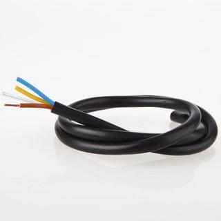 PVC Lampenkabel Rundkabel schwarz 3-adrig, 3Gx0,75mm² mit integriertem Stahlseil als Zugentlastung