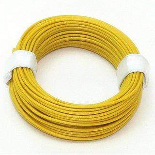 10 Meter Schaltlitzen Kabel gelb 1-adrig 1x0,14mm²