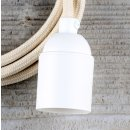 Textilkabel Lampenpendel 1-5m elfenbein mit E27 Fassung...