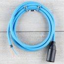 Textilkabel Lampenpendel 1-5m blau mit E14 Fassung...