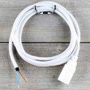 Textilkabel Lampenpendel 1-5m weiß mit E14 Fassung...