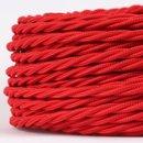 Textilkabel Stoffkabel rot 3-adrig 3x0,75 gedreht...