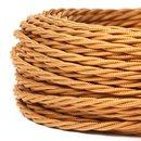 Textilkabel Stoffkabel englischgold 2-adrig 2x0,75...