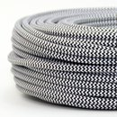Textilkabel schwarz-weiß Zick-Zack Muster 2-adrig...