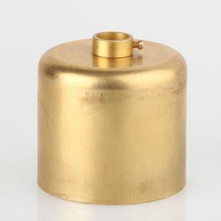 Lampen Baldachin 62x63mm Metall Messing roh Zylinderform mit Stellring fuer 13mm Pendelrohr