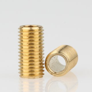 Lampen Gewinderohr Länge 15 mm Messing roh M8x1x15