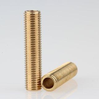 Lampen Gewinderohr Länge 35 mm Messing roh M8x1x35
