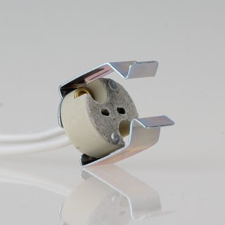 12 Volt Niedervolt Halogen Fassung GU5,3 mit Halterung für Reflektorlampen