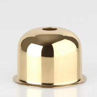 E27 Metall Fassungshülse 48x35 Zierhülse Messing poliert Emmaaufsatz