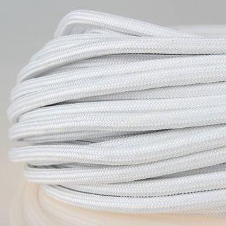Textilkabel Stoffkabel weiß 3-adrig 3x0,75 Zug-Pendelleitung S03RT-F 3G0,75