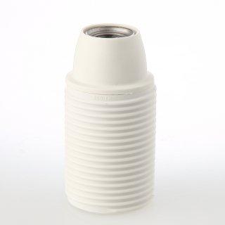 E14 Thermoplast Fassung weiß Gewindemantel M10x1 IG