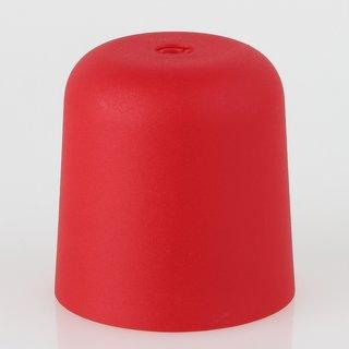 Lampen Baldachin 65x65mm Kunststoff rot Zylinderform