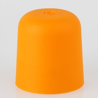 Lampen Baldachin 65x65mm Kunststoff orange Zylinderform