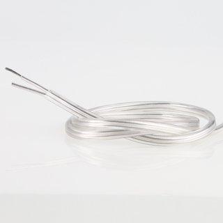 PVC Lampenkabel Flachkabel transparent 2-adrig, 2x0,75mm²