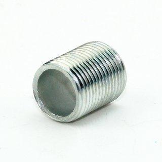 Lampen Gewinderohr Länge 15mm verzinkt M13x1x15