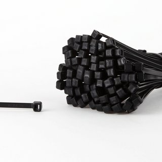 100 Kabelbinder schwarz 282 x 4,8 mm