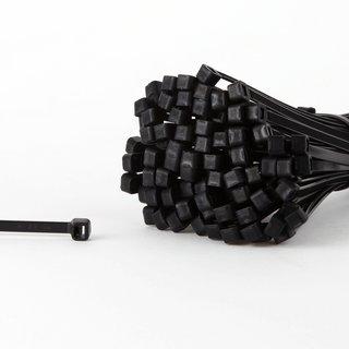100 Kabelbinder schwarz 368 x 4,8 mm