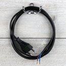 1,5 m Netzkabel Euro-Anschlusskabel schwarz