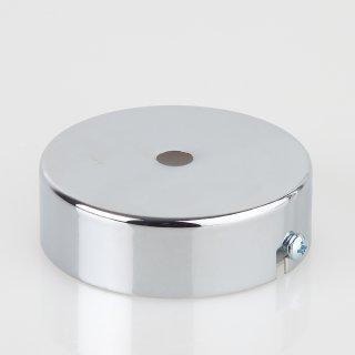 Lampen Metall Baldachin 80x25mm verchromt für 1 Lampenpendel ohne Zugentlaster