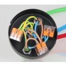 Lampen Metall Baldachin 100x25mm weiss für 3 Lampenpendel