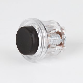 Einbau-Klingeltaster transparent/schwarz 1-24V/2A