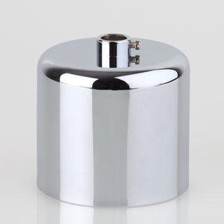 Lampen Baldachin 62x63mm Metall verchromt Zylinderform mit Stellring fuer 10mm Pendelrohr
