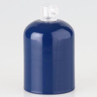 E27 Metall Fassungshülse Zierhülsen-Set marineblau mit Lampenfassung und Zugentlaster