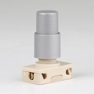 Lampen Einbauschalter Einbau-Druckschalter silber 250V/2A  mit Spezialknopf