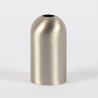 E14 Metall Fassungshülse Zierhülse 31x57 mm edelstahloptik