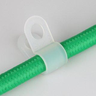 5 x Kabelhalter Befestigungsschelle Kunststoff natur für 2-5 mm Kabeldurchmesser