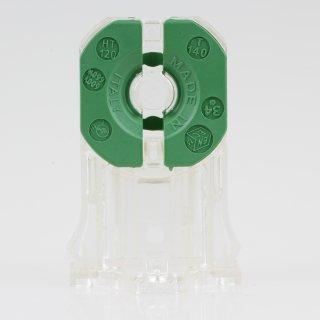 G13 Fassung  für T8 Leuchtstoffröhren ohne Starterfassung durchsteckbar