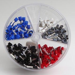 Aderendhülsenbox mit Isolierung 400-teilig 0,5 bis 2,5mm