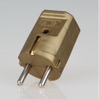 Schutzkontakt-Stecker gold 250V/16A