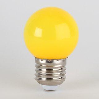 LED Leuchtmittel gelb tropfenform E27 Sockel 220-240V 1W