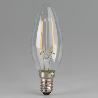 Osram LED Filament Leuchtmittel 4W 240V Kerzen-Form klar E14 Sockel warmweiß