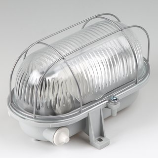 Ovalleuchte Kellerleuchte Kellerlampe E27 Sockel max. 100W IP44