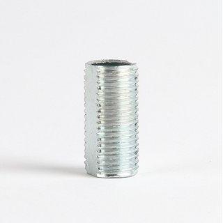 Lampen Gewinderohr mit Profil Länge 15mm verzinkt M10x1x15