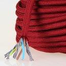 Textilkabel Stoffkabel bordeaux 3-adrig 3x0,75...