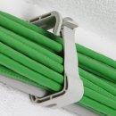 10 x Kabelhalter Kabelführung Sammelhalterung Kabelklemme für 15 Leitungen