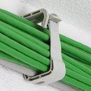 10 x Kabelhalter Kabelführung Sammelhalterung Kabelklemme für 30 Leitungen