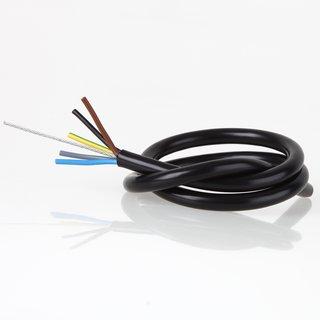 PVC Lampenkabel Rundkabel schwarz 5-adrig 5x0,75mm² mit Stahlseil