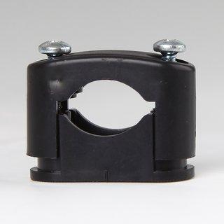 5 x Kabelschellen Kabelhalter schwarz für Kabel-Durchmesser 10-17 mm