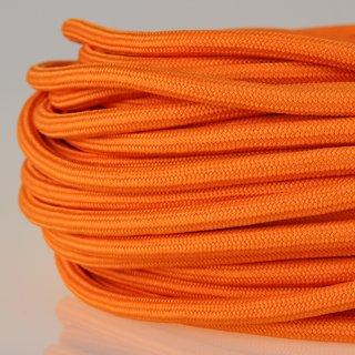 Textilkabel Stoffkabel orange 3-adrig 3x0,75 Zug-Pendelleitung S03RT-F 3G0,75