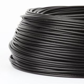 100 Meter PVC Aderleitung 1x0,75 mm² H05V-K schwarz (NYA-F)  flexibel