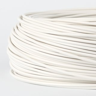 100 Meter PVC Aderleitung 1x0,75 mm² H05V-K weiß (NYA-F)  flexibel